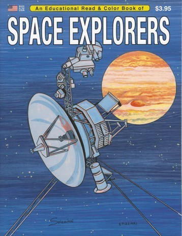 Space Explorers Educational Coloring Book