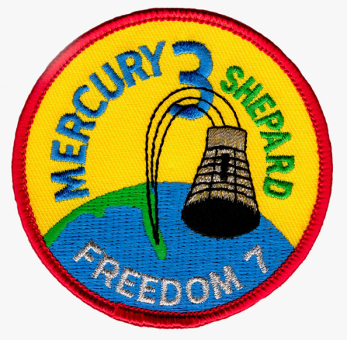 Mercury-Redstone 3 Souvenir Mission Patch