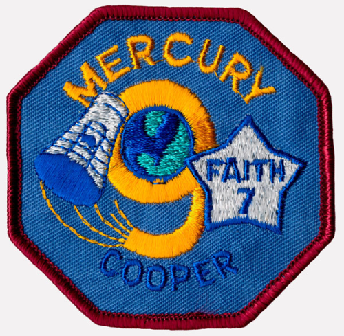 Mercury-Atlas 9 Souvenir Mission Patch