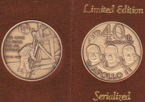 Apollo 11 40th Anniversary Commemorative Coin