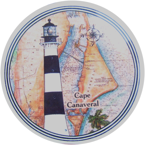 Cape Canaveral Lighthouse Car Coaster