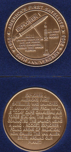 Explorer I 50th Anniversary Collectable Coin