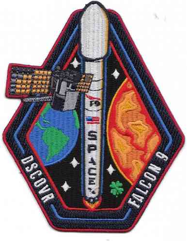 DSCOVR SpaceX Falcon9 Mission Patch
