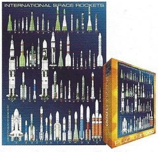 International Space Rockets Puzzle - 1,000 pcs.
