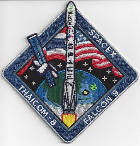 THAICOM-8 SpaceX Mission Patch