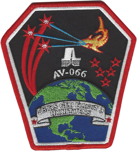 SBRIS GEO-3 Mission Patch  5th SLS