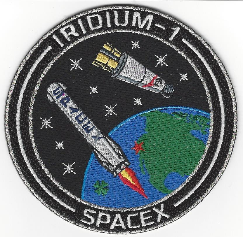 IRIDIUM-1 SpaceX Mission Patch - US AIR FORCE SPACE AND ...