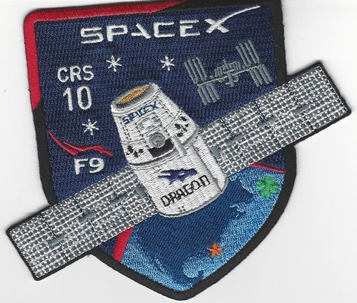 CRS-10 SpaceX  Mission patch