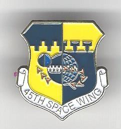 45th Space Wing Pin