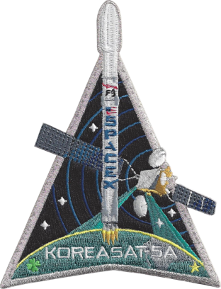 SpaceX KOREASAT-5A mission patch