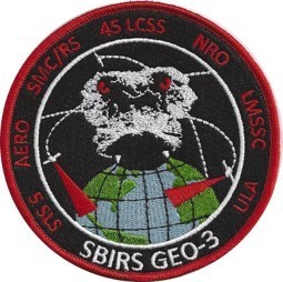 SBRIS GEO-3 Patch  45th LCSS