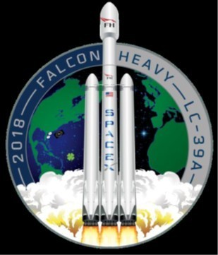 SpaceX Falcon Heavy Test Flight Mission Patch