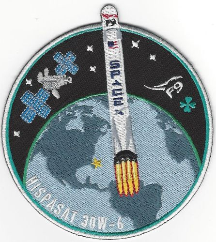 SpaceX HISPASAT 30W-6 Mission Patch