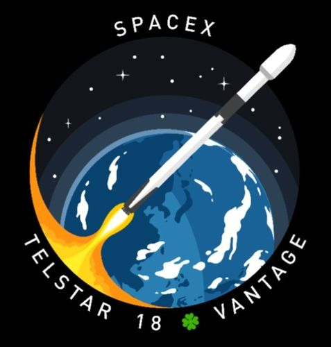 SpaceX TELSTAR 18 Mission Patch