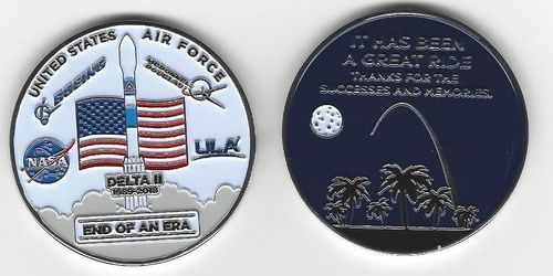 Delta II End of an Era Challenge Coin