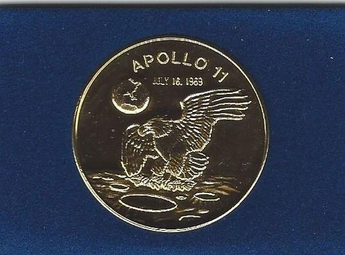 Apollo 11 Commemorative Gold Coin