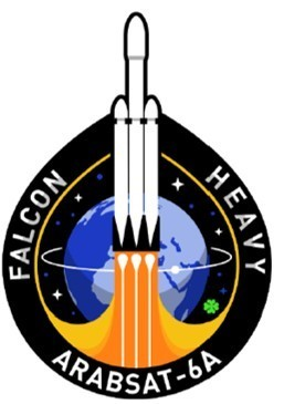 Official SpaceX Falcon Heavy ArabSat-6A Mission Patch