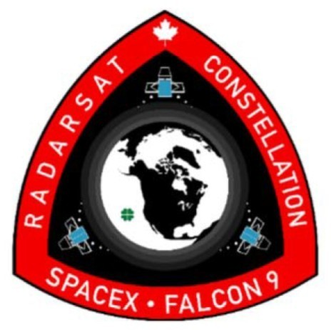 Official SpaceX RadarSat Constellation Mission Patch
