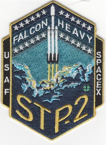 Official SpaceX Falcon Heavy STP-2 Mission Patch