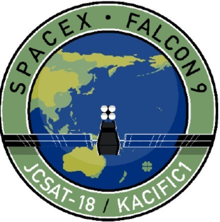 SpaceX JCSAT-18 / KACIFIC1 Mission Patch