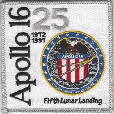Apollo 16 25th Anniversary Patch