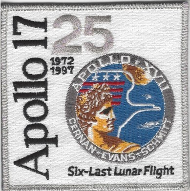Apollo 17 25th Anniversary Patch