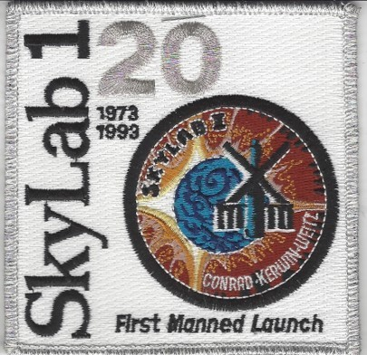 Sklylab 1 Mission Patch 20th Anniv
