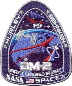 NASA-SpaceX DM-2 Official Mission Patch